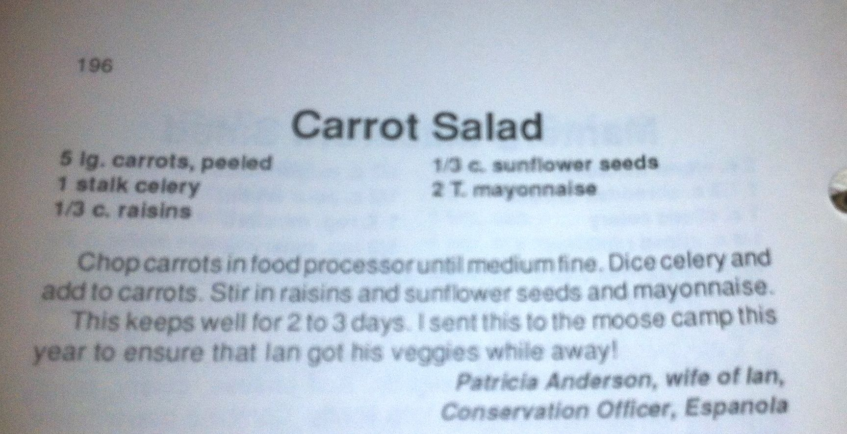 2013 12 19 Carrot Salad