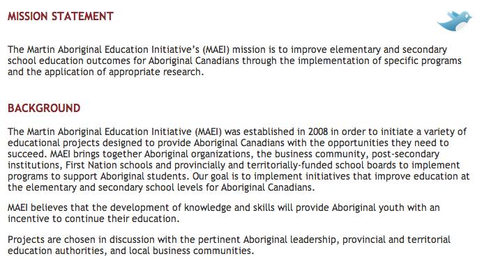 Martin Aboriginal Initiative