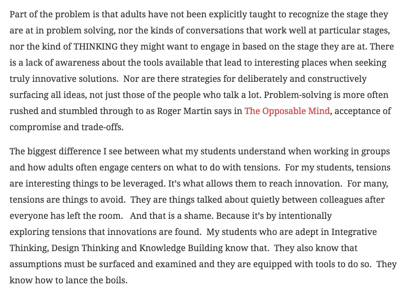 From Heidi Siwak, The Very Strange World of Adult Problem Solving, http://www.heidisiwak.com/2016/03/the-very-strange-world-of-adult-problem-solving/