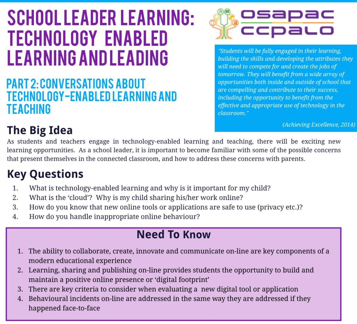 Connecting Principals & Dropping Digital